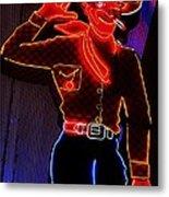 Fremont Cowboy Metal Print