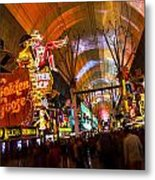 Fremont Street Experience Lights Metal Print