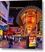 Fremont Street Lights 2 Metal Print