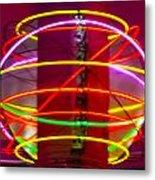 Fremont Street Neon Sphere Metal Print