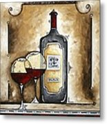 French Bordeaux Original Madart Painting Metal Print