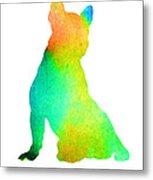 French Bulldog Image Art Silhouette Metal Print