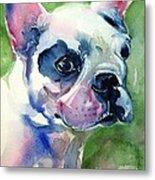French Bulldog Painting Metal Print