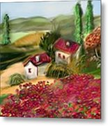 French Country Squared Metal Print