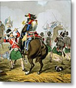 French Cuirassiers At The Battle Metal Print
