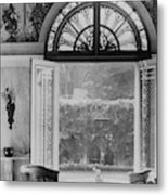 French Doors Leading To A Garden Metal Print
