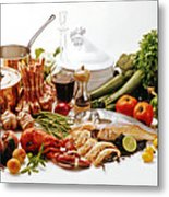 French Gastronomy Metal Print