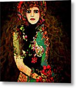 French Girl Metal Print
