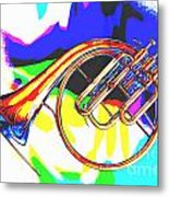 French Horn Painting Antique Classic In Color 3426.02 Metal Print