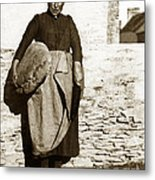 French Lady With A Very Large Bread France 1900 Metal Print
