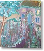 French Lavender Cottage Metal Print