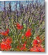 French Lavender Field Metal Print