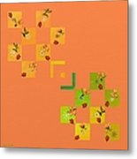 French Lillies Abstract Metal Print