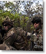 French Marines Scout Ahead Of A Patrol Metal Print