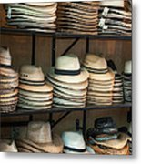 French Market Hats Metal Print