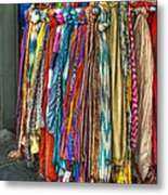 French Market Scarves Metal Print