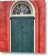 French Quarter Arched Door Metal Print by Brenda Bryant