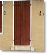 French Quarter Door - 34 Metal Print
