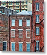 French Quarter Facades New Orleans Metal Print