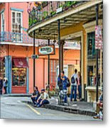 French Quarter - Hangin' Out Metal Print