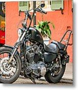 French Quarter Harley Metal Print