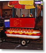 French Quarter Late At Night Metal Print