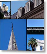 French Quarter Looking Up Metal Print