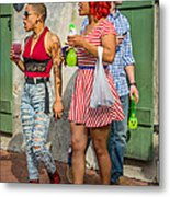 French Quarter - Party Time Metal Print