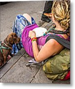 French Quarter - Pizza Puppy Metal Print
