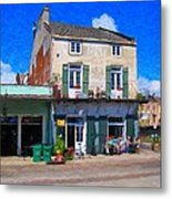 French Quarter Stroll New Orleans Metal Print