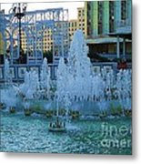 French Quarter Water Fountain Metal Print