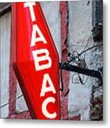French Tobacconist Sign Metal Print