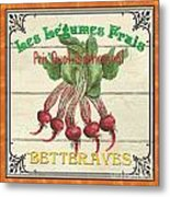 French Vegetable Sign 4 Metal Print