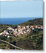 French Village By The Sea Metal Print