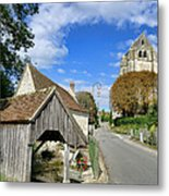 French Village Road Metal Print by Olivier Le Queinec