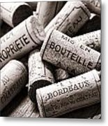 French Wine Corks Metal Print
