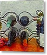 French Wine Rack Metal Print