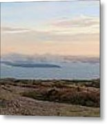 Frenchmans Bay From Cadillac Mountain Metal Print