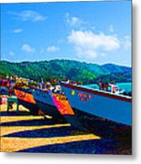 Frenchtown Boats Metal Print