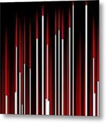 Frequency Red Metal Print