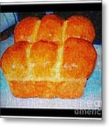 Fresh Baked Bread Three Bun Loaf Metal Print