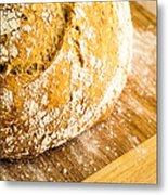 Fresh Baked Loaf Of Artisan Bread Metal Print