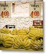 Fresh Bananas On A Street Fair In Brazil Metal Print by Ricardo Lisboa