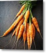 Fresh Carrots Metal Print