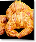 Fresh Croissants Metal Print