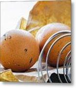 Fresh Eggs Just Laid Metal Print