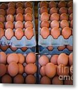 Fresh Eggs On A Street Fair In Brazil Metal Print