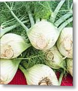 Fresh Fennel At The Market Metal Print