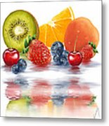Fresh Fruits Metal Print