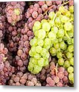 Fresh Grapes On Display Metal Print